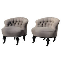 Pair Boudoir Chairs For At 1stdibs