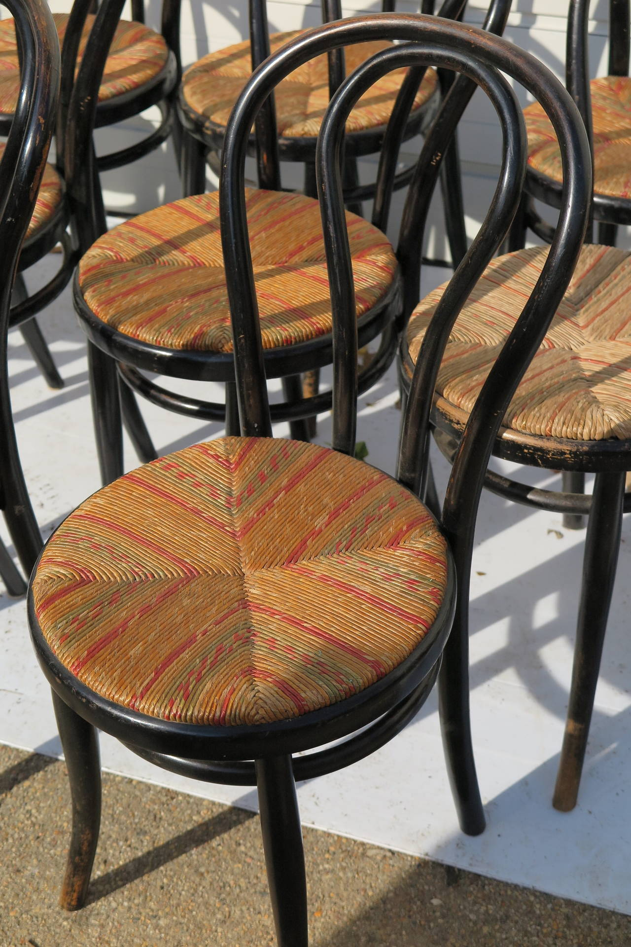French Bistro Chairs SIX AVAILABLE For Sale At 1stdibs