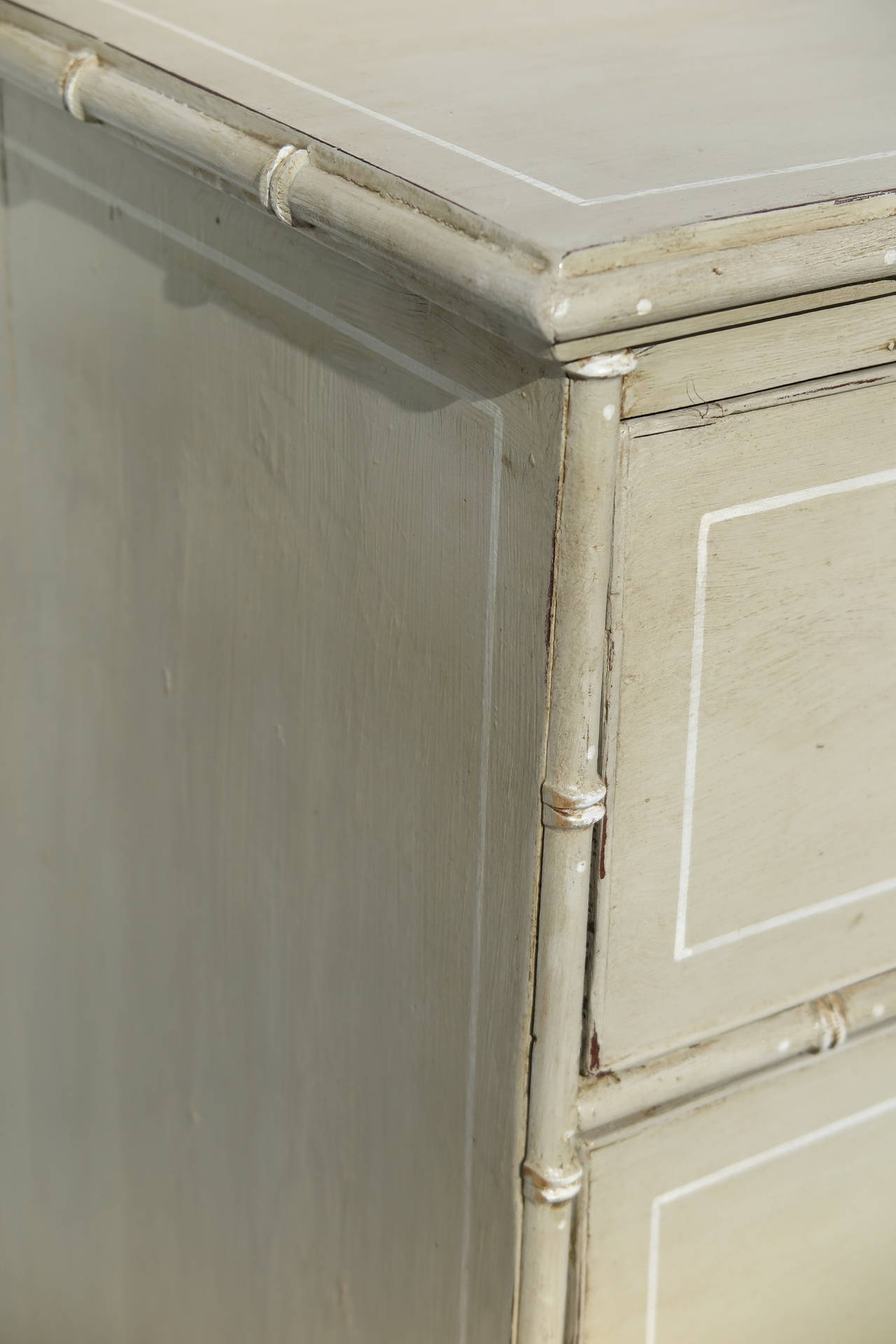 Pine Chest With Faux Bamboo Trim At 1stdibs