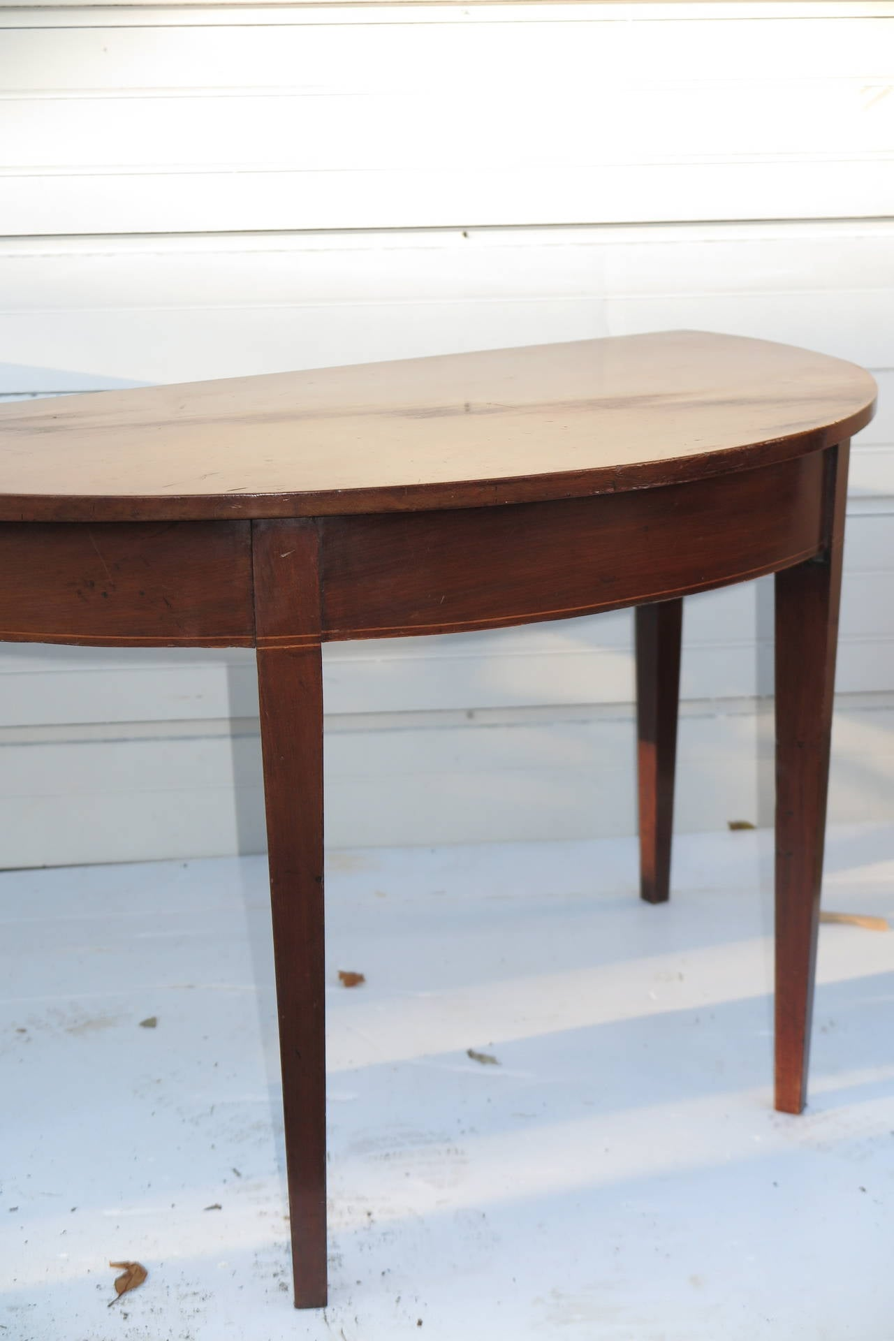 Pair of Demilune Tables In Good Condition For Sale In Bridgehampton, NY