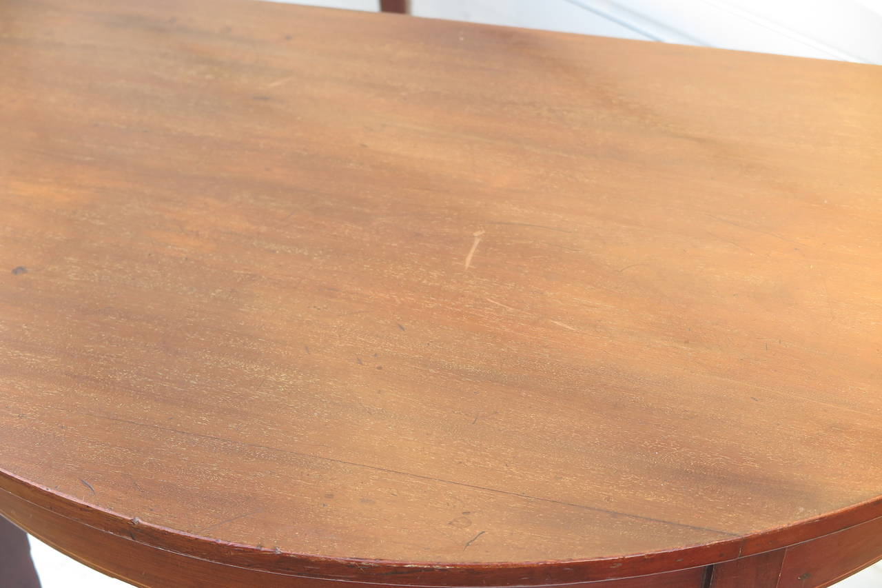 Pair of Demilune Tables For Sale 1