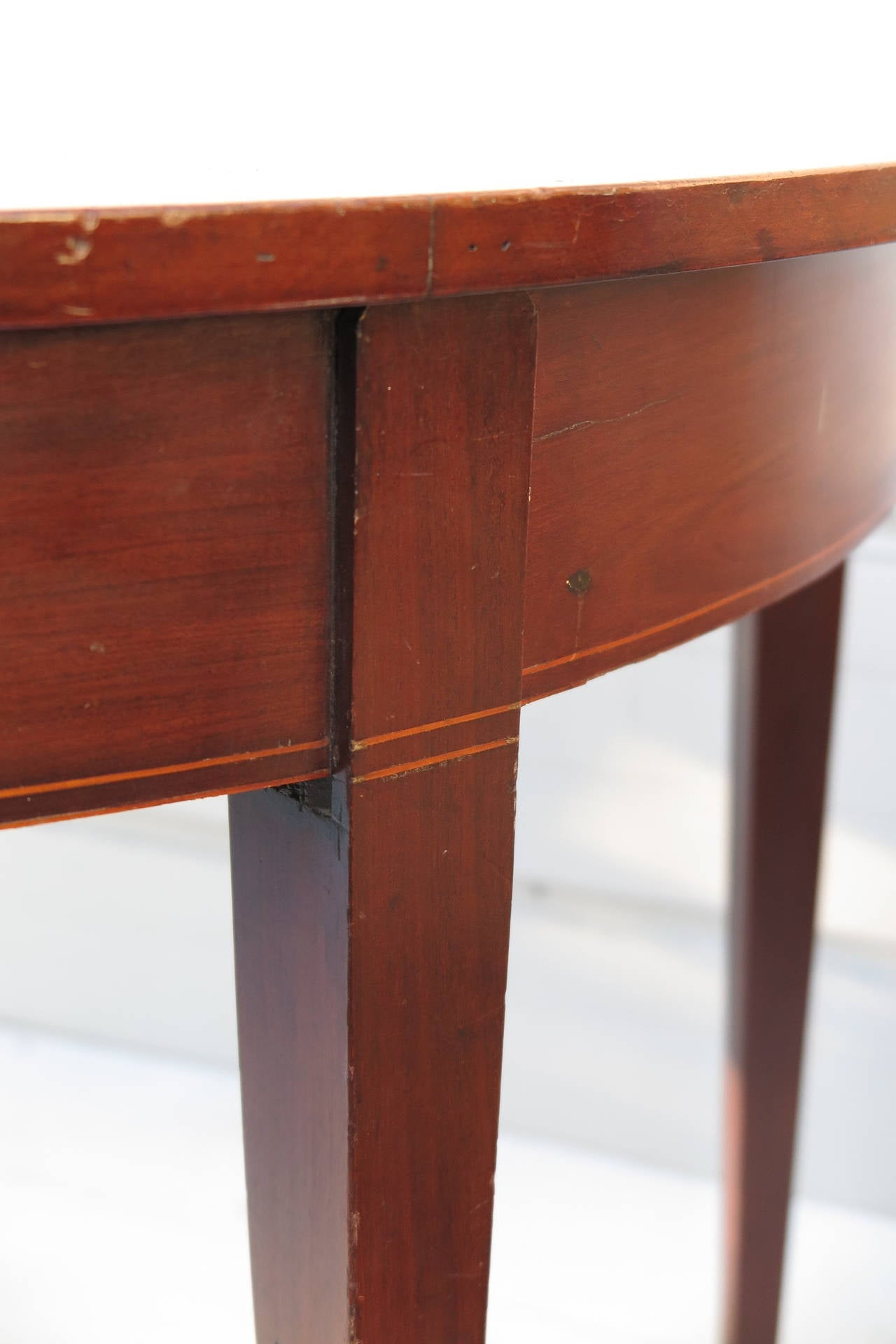 Pair of Demilune Tables For Sale 2
