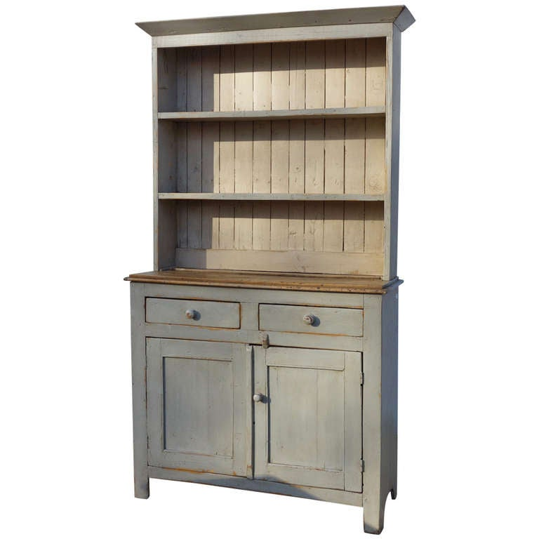 painted english kitchen dresser