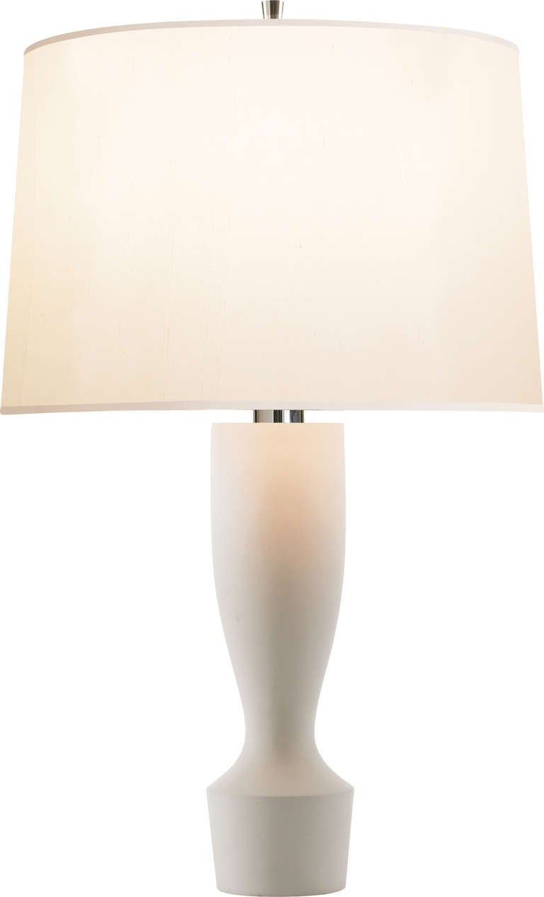 Plaster White Table Lamp For Sale At 1stdibs