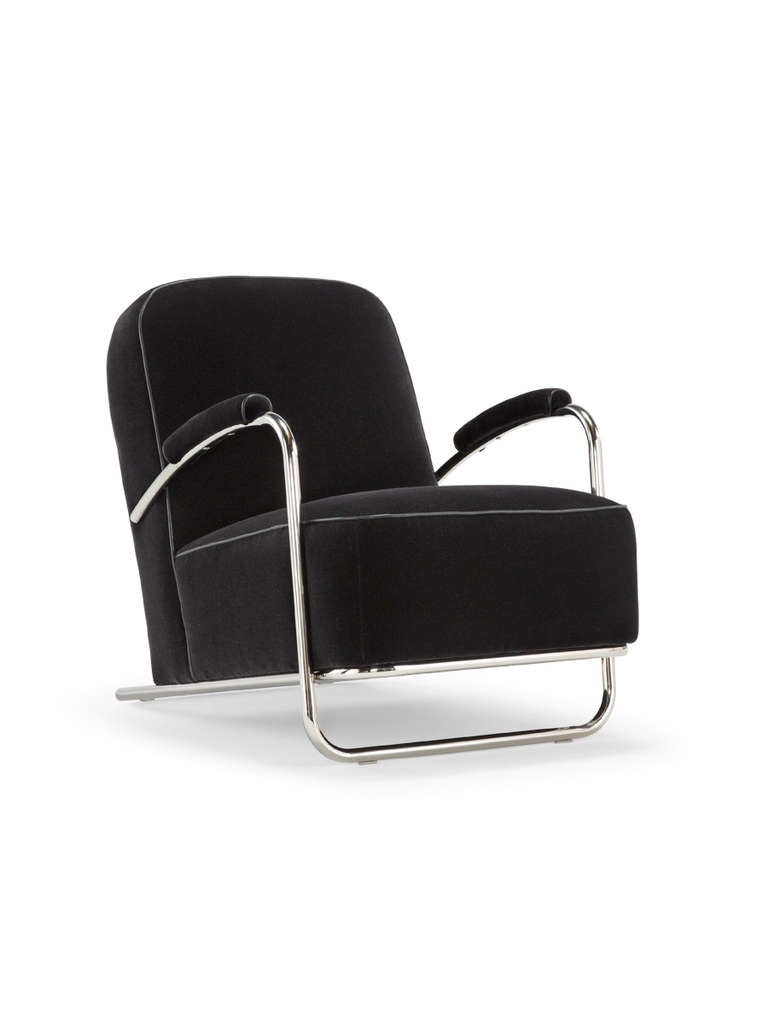 deco lounge chair for sale at 1stdibs. Black Bedroom Furniture Sets. Home Design Ideas