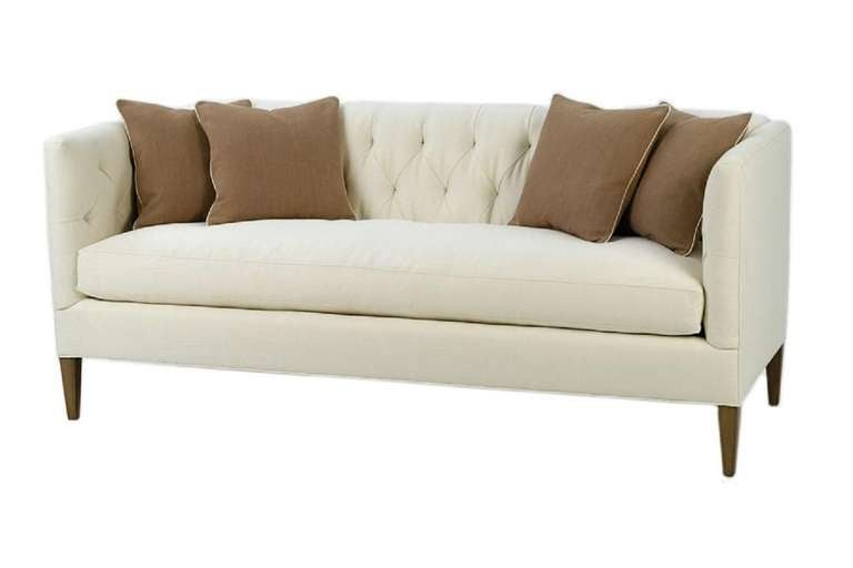 Diamond tufted sofa for sale at 1stdibs for Tufted couches for sale