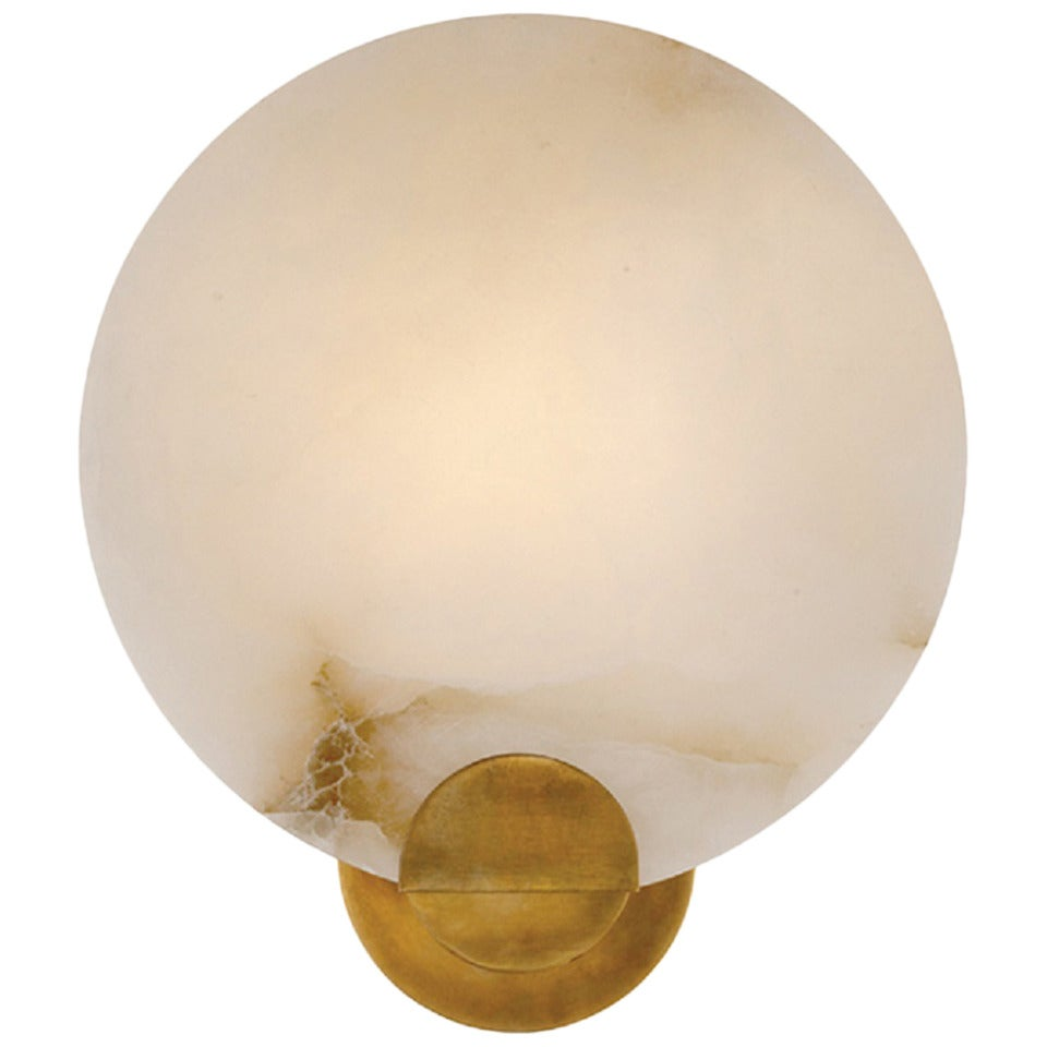 Round Alabaster Sconce For Sale At 1stdibs