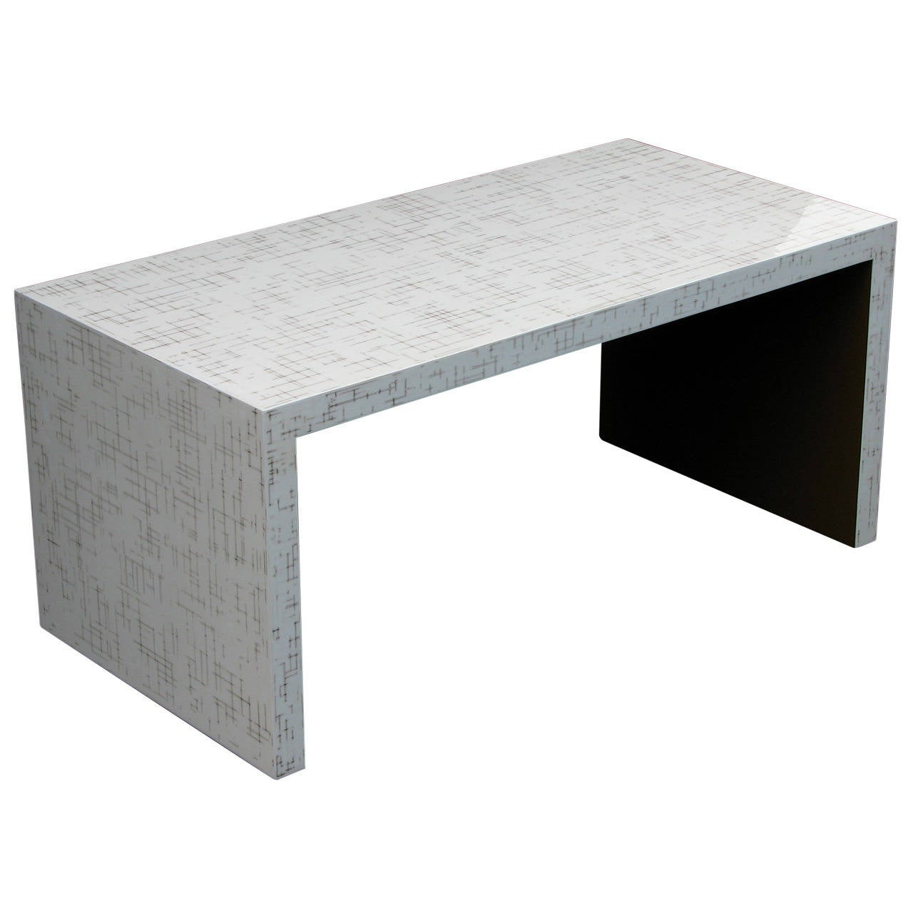 White Waterfall Tables ~ Dusted lacquer waterfall table for sale at stdibs