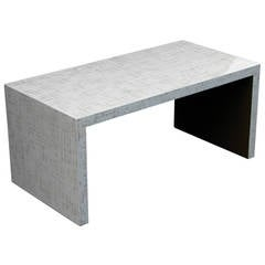 Dusted Lacquer Waterfall Table