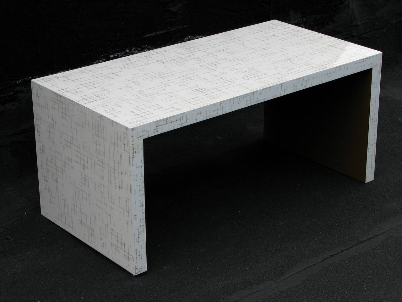 White Waterfall Tables ~ Dusted lacquer waterfall table at stdibs