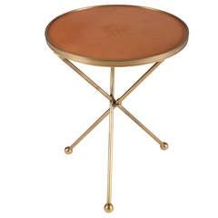 Folding Brass Side Table