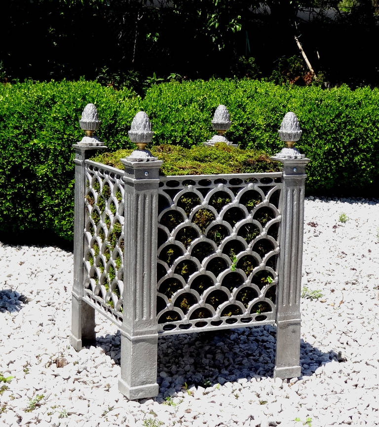 American Cast Metal Garden Planter For Sale