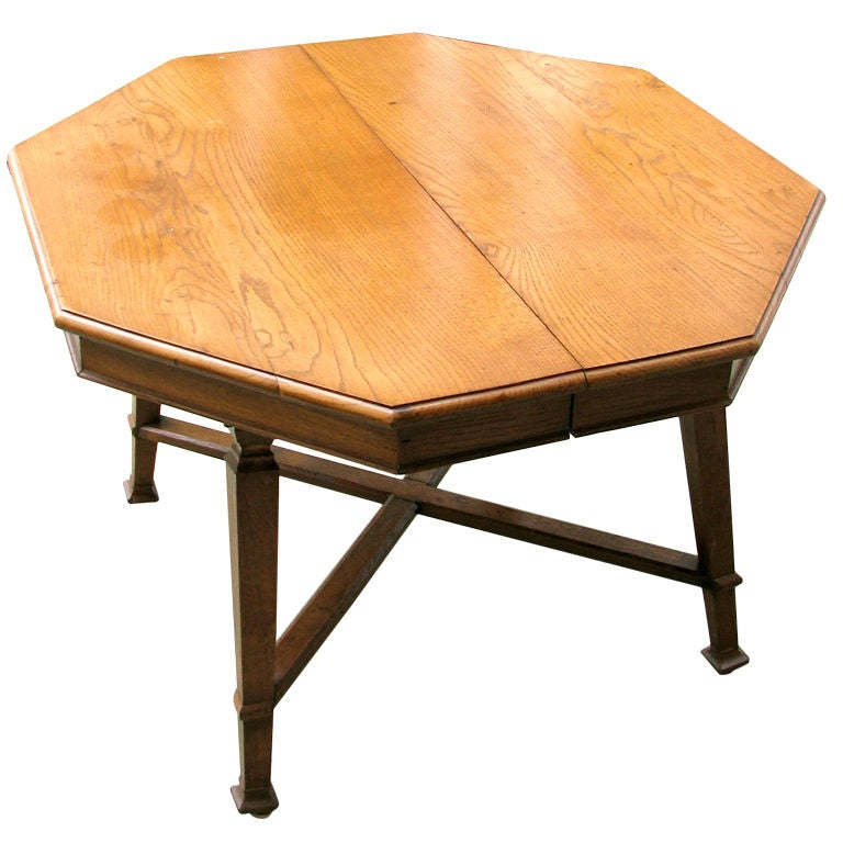 Octagonal Arts And Crafts Center Table At 1stdibs