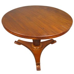 A Single Pedestal Pine Center Table