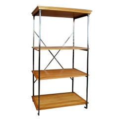Polished Steel Etagere