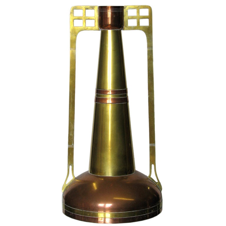 Copper and Brass Secessionist Vase