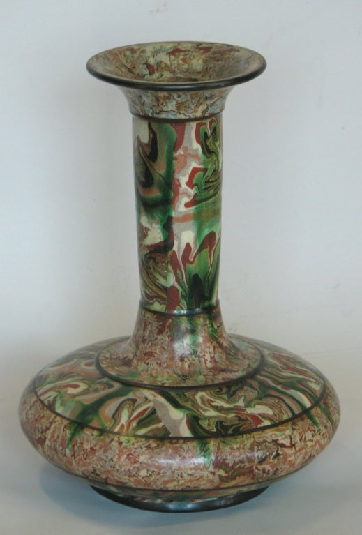 Rare Mixed Earth Vase by Pichon 2