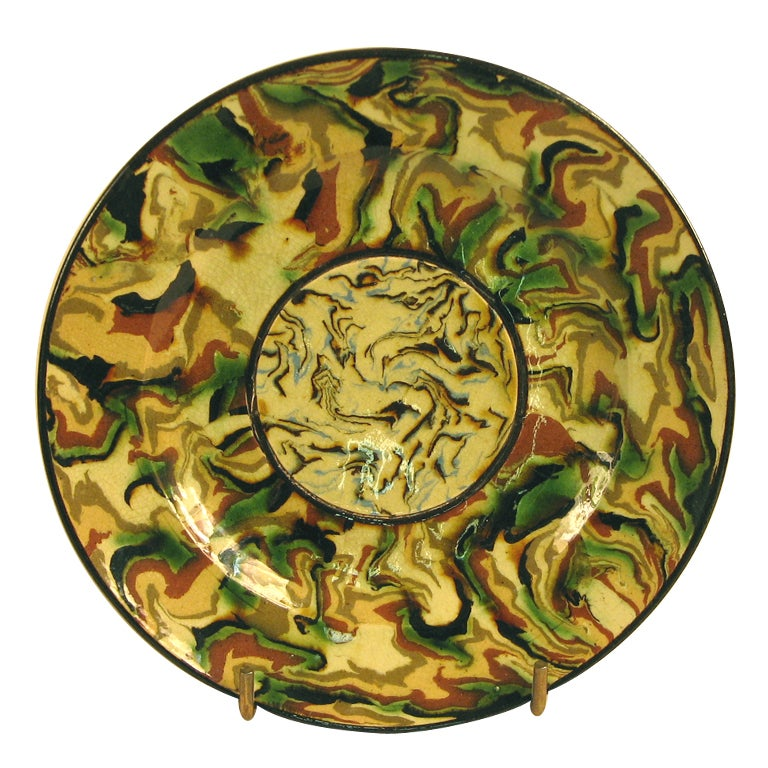A Mixed Earth Plate By Pichon At 1stdibs