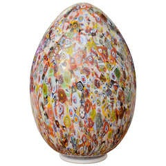 Murano Glass Egg Shaped Table Lamp