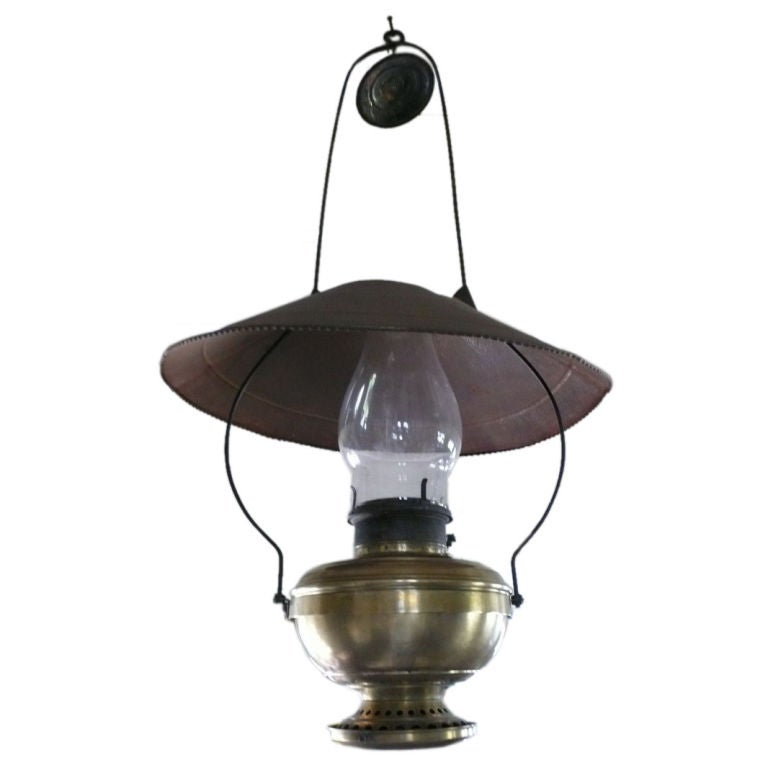 Old Brass Kerosene Lamp At 1stdibs