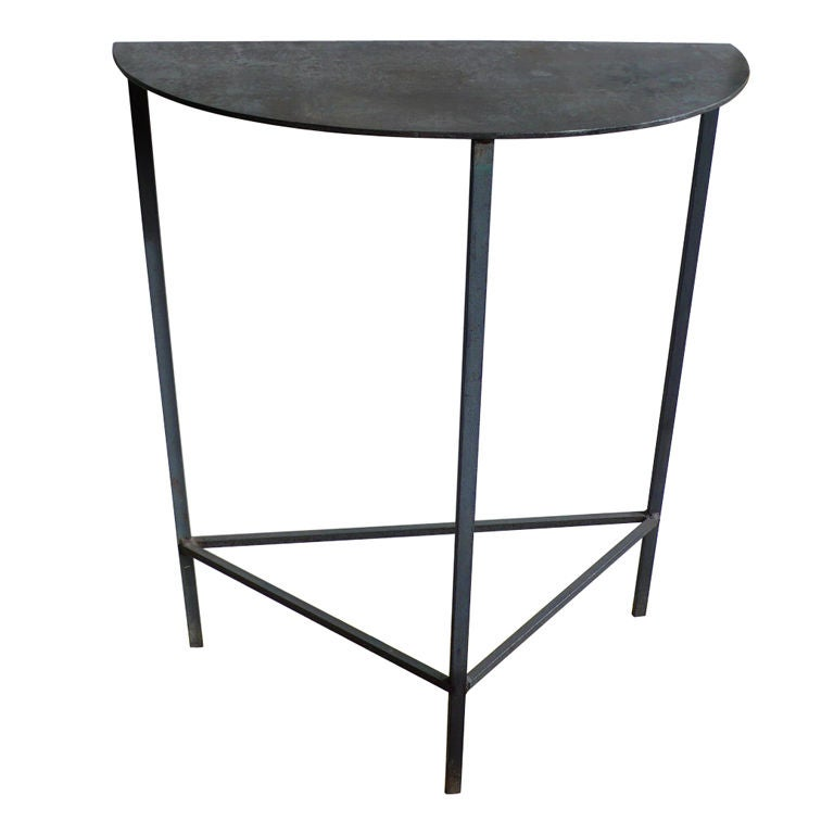 Steel Demilune Side Table At 1stdibs
