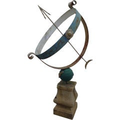 Oversized Armillary on Stone Base