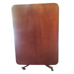 Large Mahogany Tilt Top Table