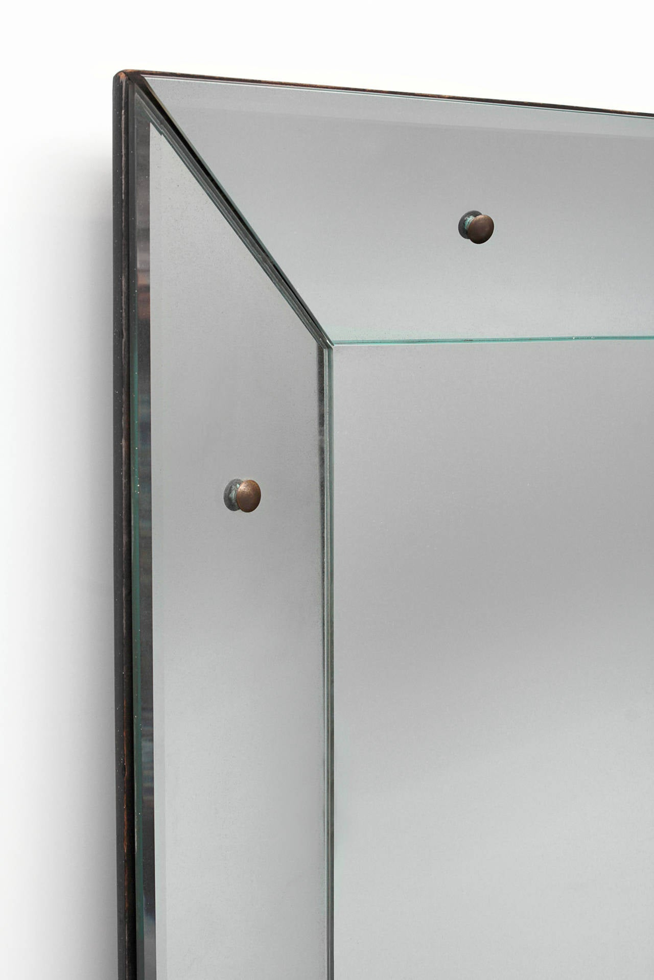 Large glass framed mirror at 1stdibs for Large framed mirrors for walls