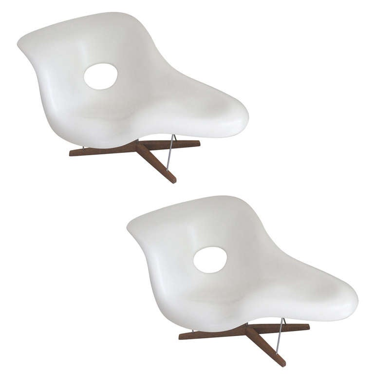 La chaise by eames pair at 1stdibs - Eames chaise lounge chair ...