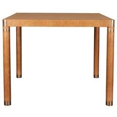 Karl Springer style Card Table