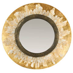 Crystal Gilt Bronze Mirror