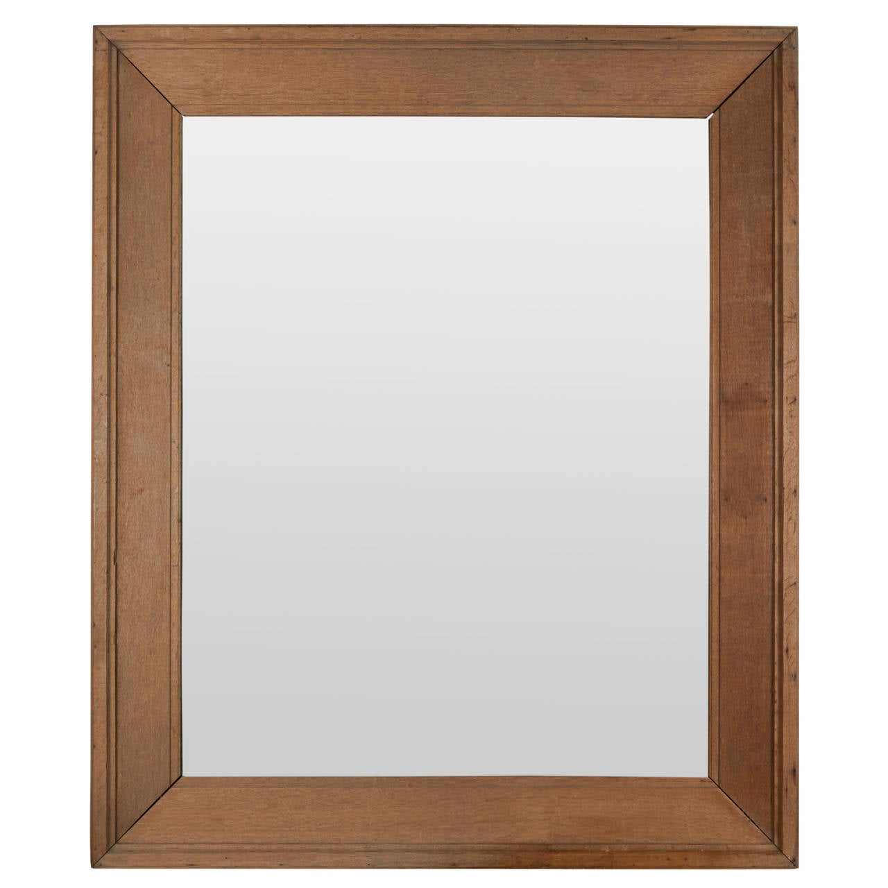 Xx large oak mirror with antique glass at 1stdibs for Tall glass mirror