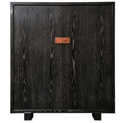 French Cerused Oak Cabinet