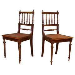 Pair of French 1900's Louis XVI Style Sidechairs