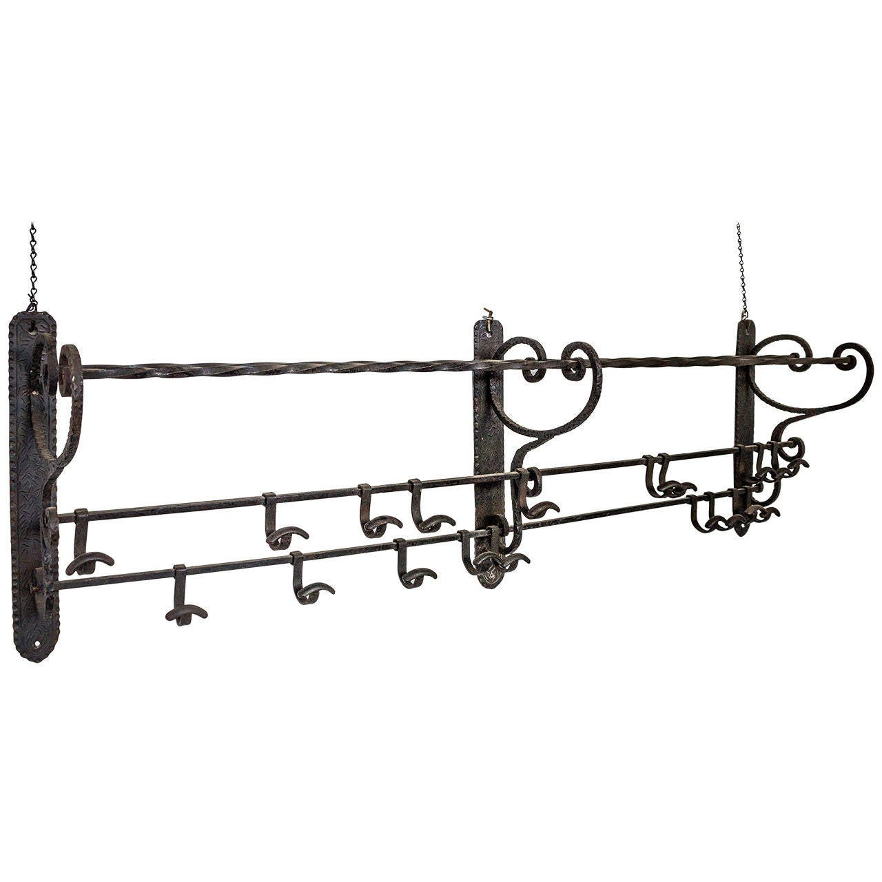 French 1920s Wrought Iron Coat Rack At 1stdibs