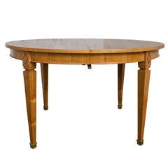 French 1940s Oval Dining Table