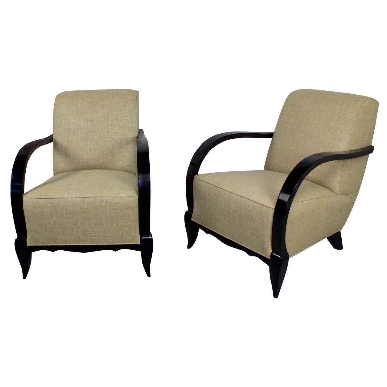 Pair of French Armchairs, 1940s