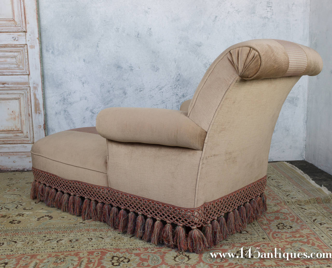 Handsome 1940 39 s chaise lounge at 1stdibs for Chaise 1940