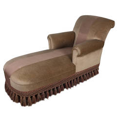 Handsome French 1940's Chaise Longue