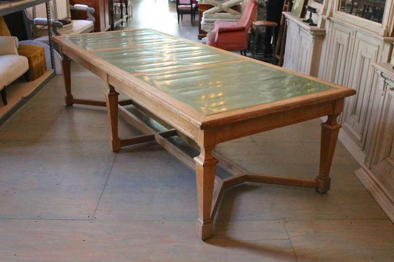 Magnificent Large French Oak Monastery Table For Sale At