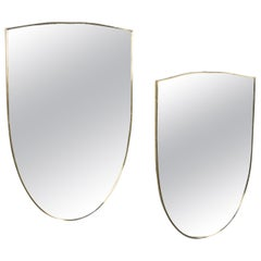 Pair of Italian Shield Shaped Mirrors