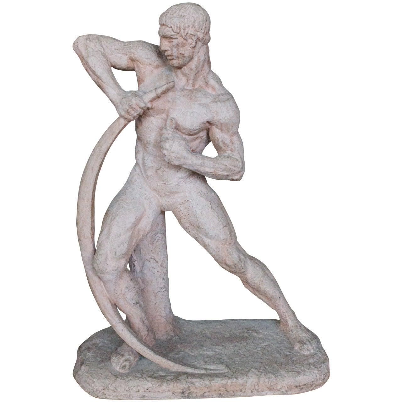 Art Deco Sculpture by Henri Bargas
