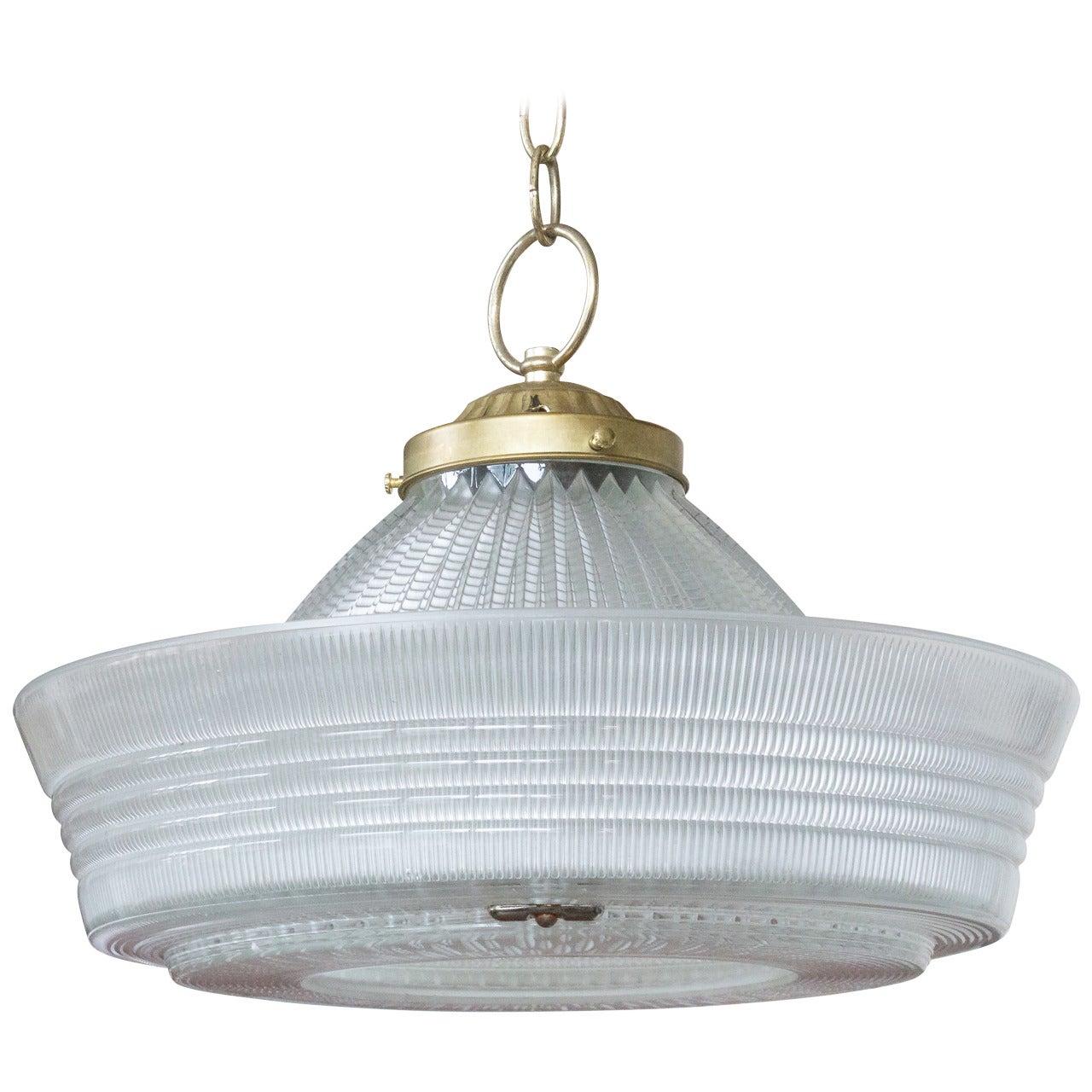 Vintage Hanging Glass Light, 20th Century