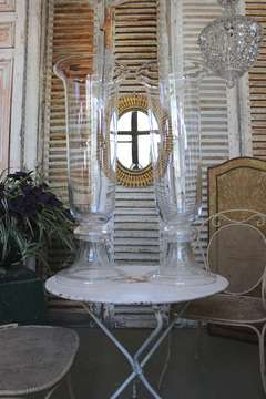Pair of Tall Glass Vases