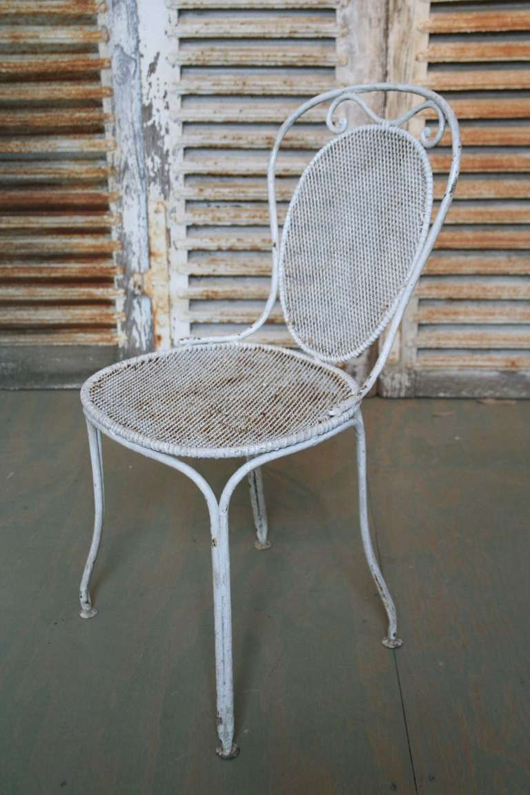 Set of seven french iron garden chairs for sale at 1stdibs French metal garden furniture