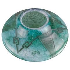 French Art Deco Art Glass, Signed Legras