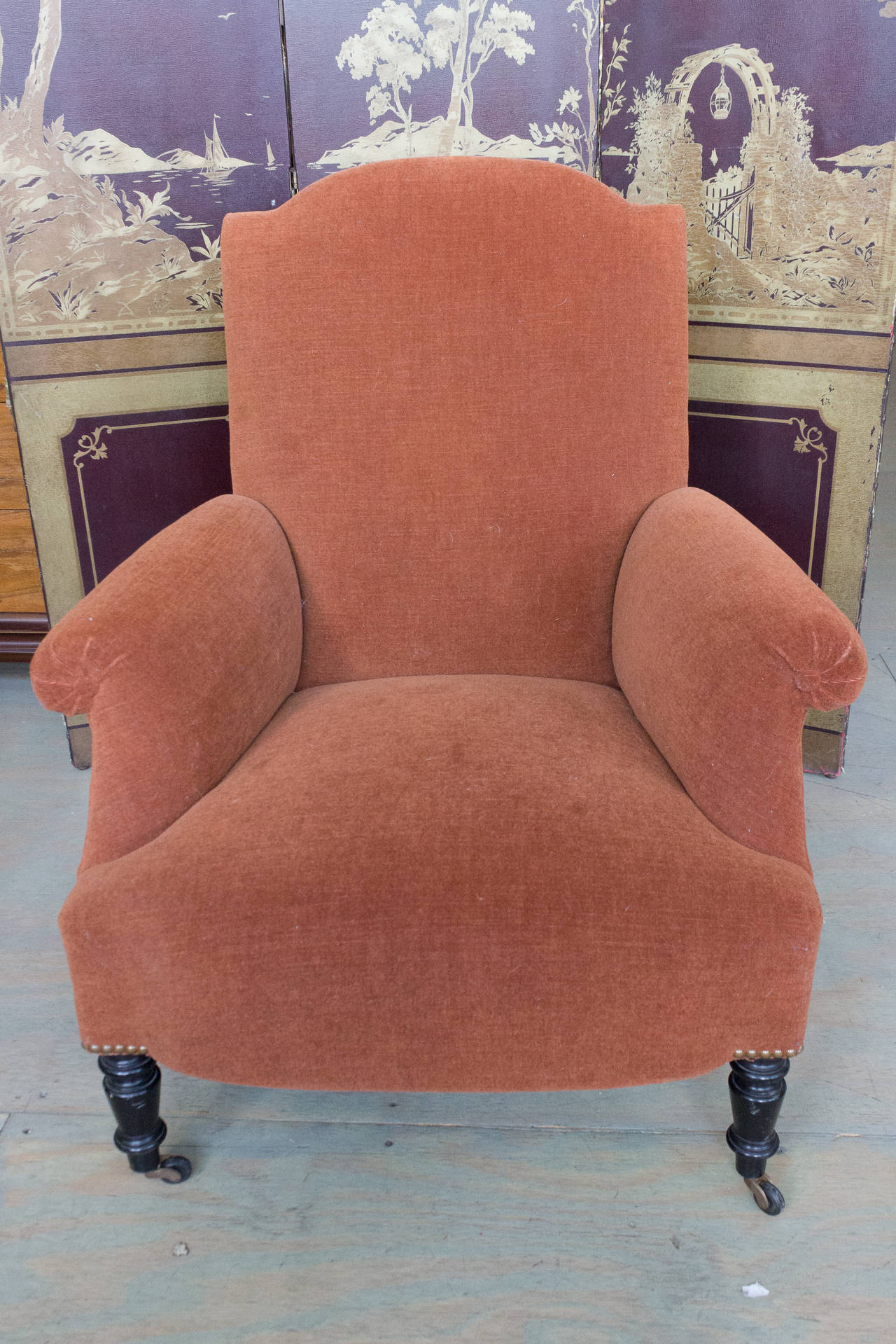 Reproduction of a Napoleon III Armchair For Sale 1