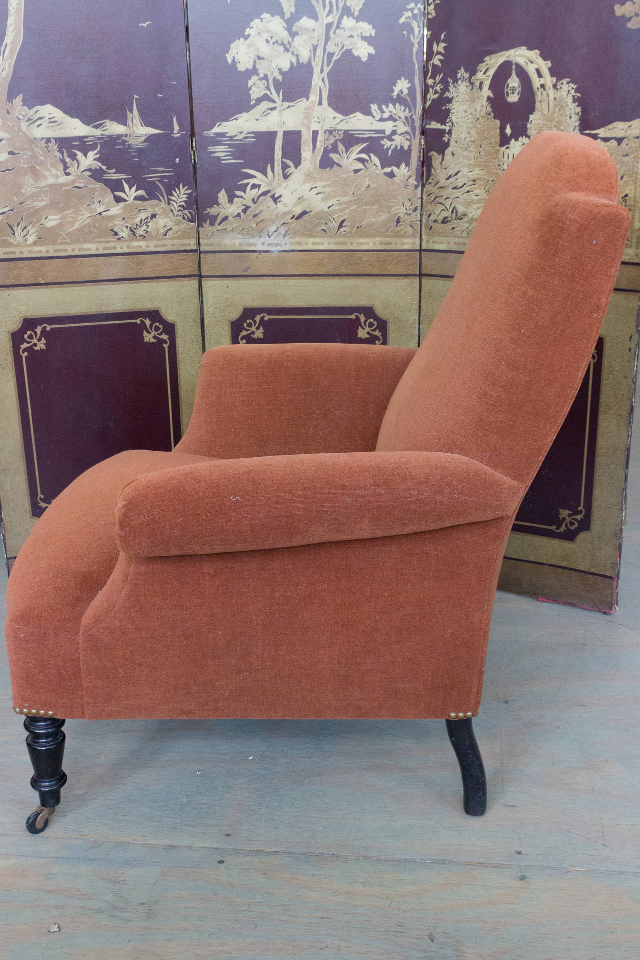 American Reproduction of a Napoleon III Armchair For Sale