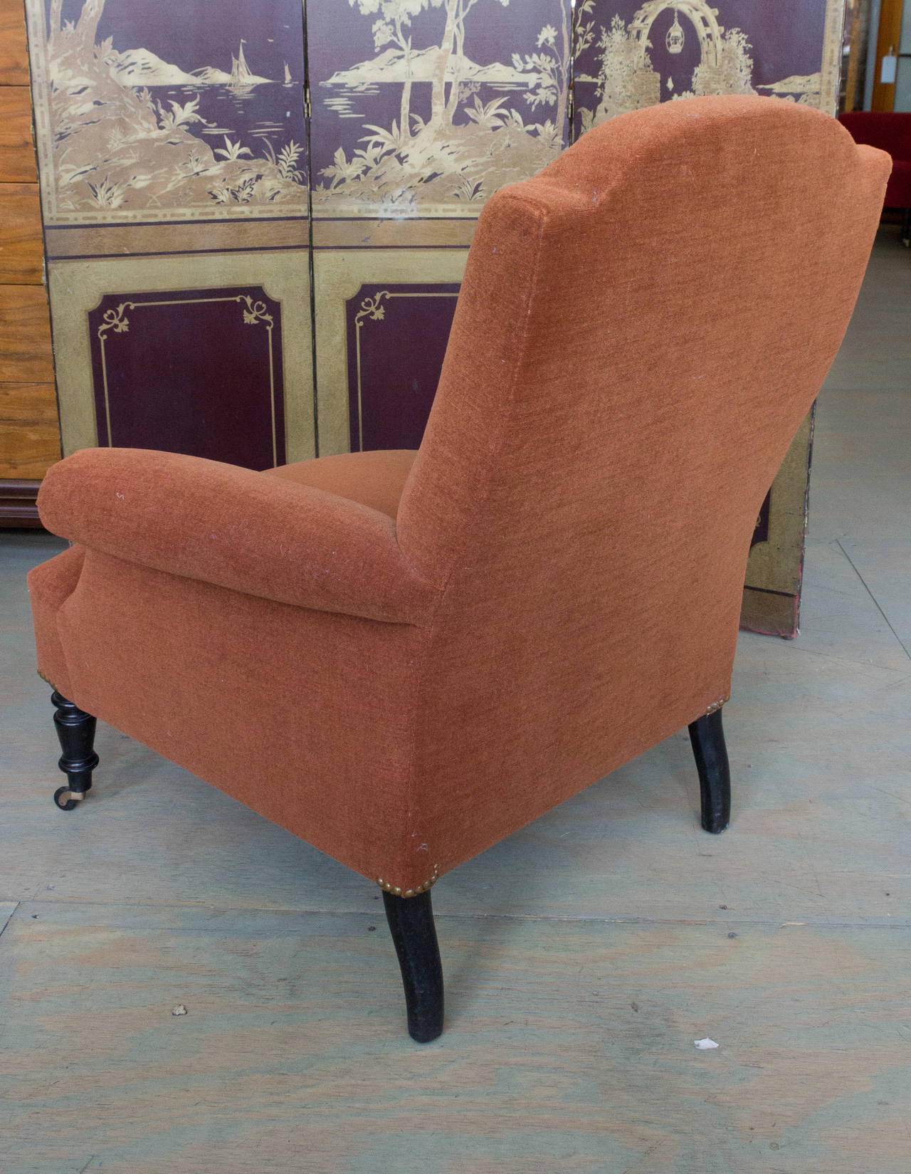Reproduction of a Napoleon III Armchair For Sale 2