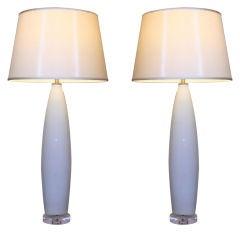 Pair of 1950s Italian Murano Lamps